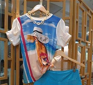 T-shirt Praia Manga Princesa