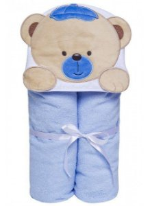 Toalha felpuda com capuz - Urso