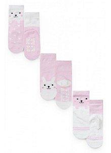 Kit 3 pares de meia- Sortido