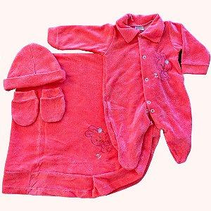 Saída de maternidade c/ aplicador bordado
