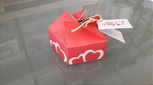 Caixa Origami dois corações com tag e um sabonete