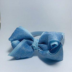 Tiara Laço Entrelaçada Azul