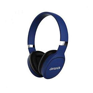 fone de ouvido bluetooth -  Aiwa AW-A61BT  / com Microfone - Azul