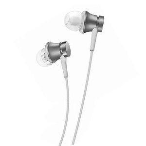 fone de ouvido bluetooth -  Xiaomi Mi In-Ear Basic com Microfone - Prata