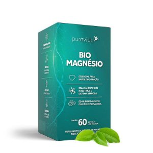 Bio Magnésio 1200mg 60 cápsulas - Pura Vida