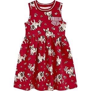 Vestido Vermelho de Cachorrinho