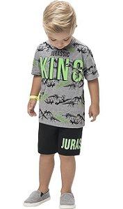 Conjunto Infantil Masculino Rei Jurrásico