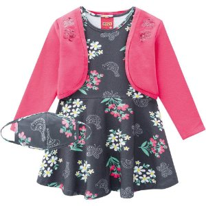 Conjunto Infantil Feminino Vestido + Bolero Kyly
