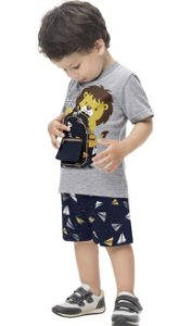 conjunto Masculino Infantil - Leão Explorador