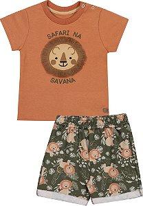 Conjunto Infantil Masculino Leão Safari