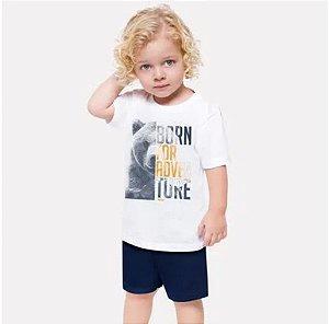 Conjunto Infantil Masculino Camiseta + Bermuda Milon