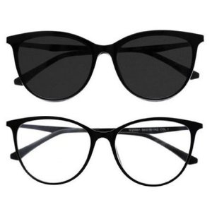 Armação Óculos de Grau Gatinho 2 em 1