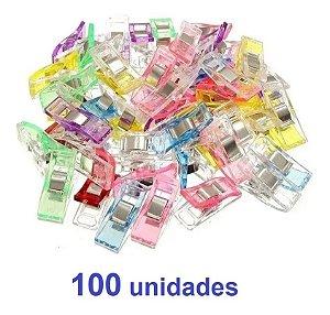 Kit com 100 prendedores pequenos patchwork costura