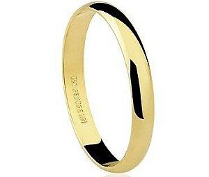 Aliança Brüner de Ouro Dourado 18K-750 polido 1,75g