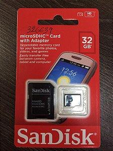 Cartão de Memoria 32 GB SanDisk