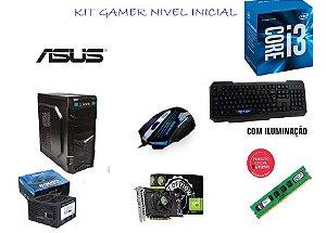 CPU GAMER NÍVEL INICIAL - PROCESSADOR I3 / M.B. ASUS / HD 1 TERA ST3 / 8 GB MEMORIA / VGA GTX-650 / TECLADO E MOUSE GAMER