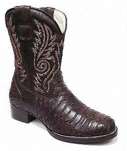 Bota Country Masculina Escamada e Bordada - Rodeio Boots