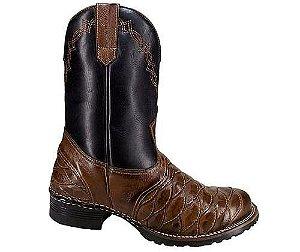 Bota Country Escamada Masculina em Couro - Alcalay Calçados