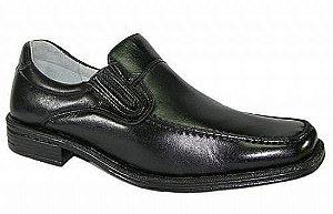Sapato Preto Confort em Couro Pelica Mafisa Calçados