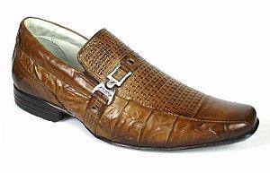 Sapato Masculino Couro Legítimo cor Oliva