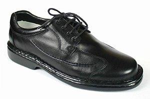 Sapato Preto com Cadarço Linha Relax