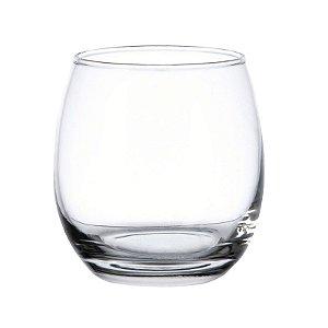 Copo Baixo p/ Whisky e Drinks em Vidro Arredondado 340 ml