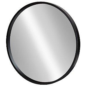 Espelho Redondo c/ Moldura em Madeira Grande 45cm Decorativo