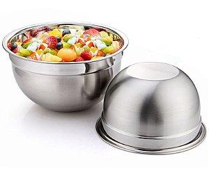 Recipiente Bowl Inox Grande Profissional Uso Culinário 26 cm