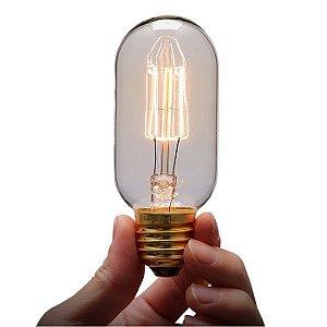 Lâmpada Decorativa Vintage Antique Thomas Edison T45