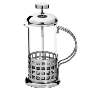 Cafeteira Francesa French Press Inox e Vidro 350 ml