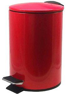 Lixeira Em Aço Inox Colorido c/ Pedal e Balde 5 Litros