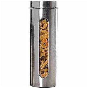 Porta Mantimentos em Vidro e Inox c/ Visor 1,7 L