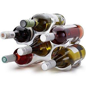 Adega Rack para Vinhos 6 Garrafas Inox
