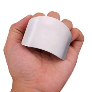 Protetor de Dedos C/ Anéis Para Corte em Cozinha Inox