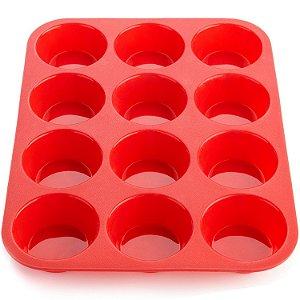 Forma Silicone Cupcake 12 Unidades Petit Gateau Bolo Muffins