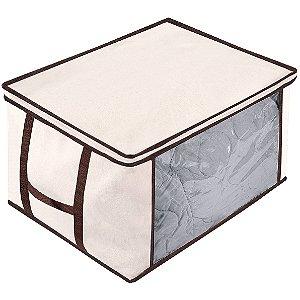 Caixa Organizadora p/ Roupas Cobertores Edredom Grande