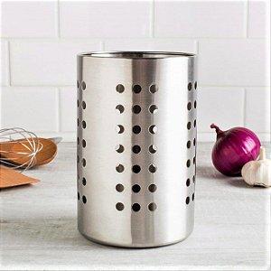 Escorredor e Expositor de Talheres p/ Cozinha em Inox 18x12