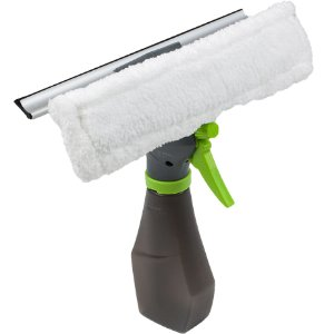 Rodo para Limpeza de Vidros com Dispenser Borrifador