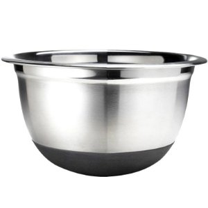 Recipiente Bowl Profissional Inox c/ Base em Silicone 26 cm