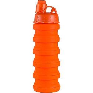 Garrafa Squeeze Retrátil Dobrável em Silicone 600 ml