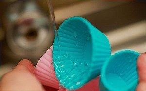 KIT 12 Formas de Silicone Para Cupcake/Muffins/Petit Gateau