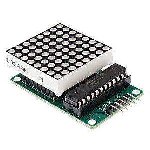 Matriz de LEDs 8x8 com CI Max7219