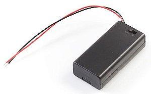 Caixa de pilhas 3 AA com Chave ON/OFF com Plug P4