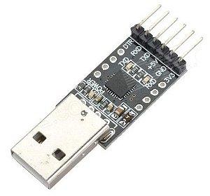 Modulo Conversor USB 2.0 P/ RS232 TTL UART 6 Pinos CP2102