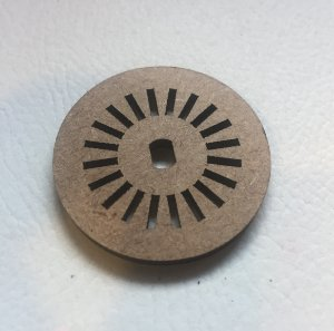 Disco para Encoder IR 40mm MDF 3mm