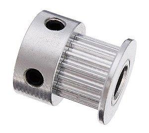 Polia S2M Alumínio 20 Dentes, 7mm de largura, Eixo 5mm para correia dentada GT2 6mm