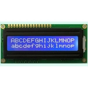 LCD 16x02 tela Azul com Interface IIC/I2C