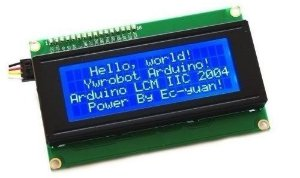 LCD 20x04 tela Azul com Interface IIC/I2C