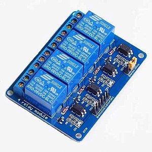 Modulo eletronico de 4 reles 5V  Acionamento em 5V