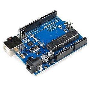 Uno R3 Atmega 328-PU (Compatível com Arduino) com Cabo USB